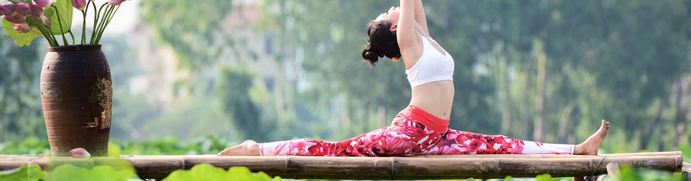 Yoga woman in the nature